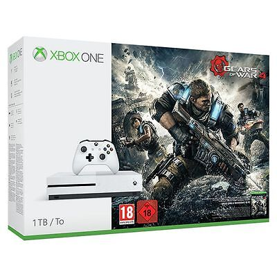 Xbox One S 1TB Console with Gears of War 4 Bundle White *New and Sealed*