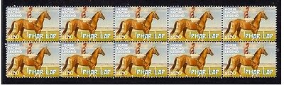 Phar Lap Strip Of 10 Mint Horse Racing Legend Stamps 1