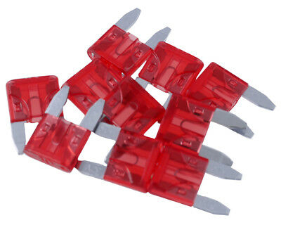 Plug fuse / flat fuse / circuit example. Motorcycle, 10 A, 10-pack