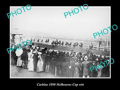 Old Large Horse Racing Photo Of Carbine Winning The 1890 Melbourne Cup