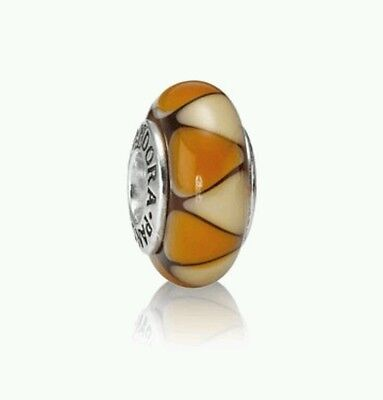 NEW Genuine PANDORA Sterling Silver Triangle Murano Glass Charm 790638 £30
