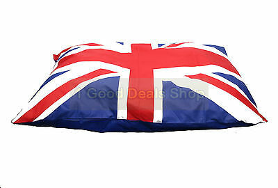Large Washable Pet Dog Puppy Cat Bed Soft Warm Basket Pillow Union Jack Cushion