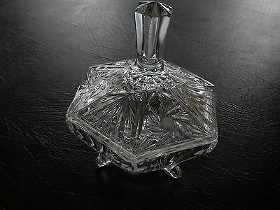 Footed Cut Glass Candy Dish