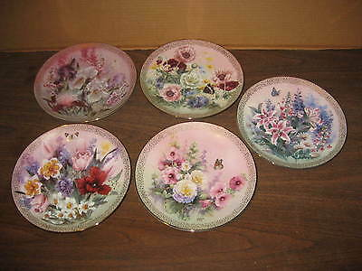 Lot Of 5  Collector Plates By Lena Liu Symphony Of Shimmering Beauty Series