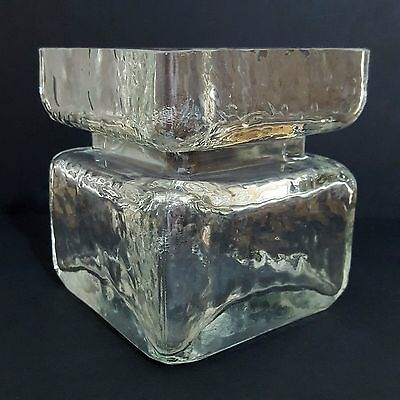 Riihimaki Pala Scandinavian Clear Glass Vase by Helena Tynell Finland Retro 1965