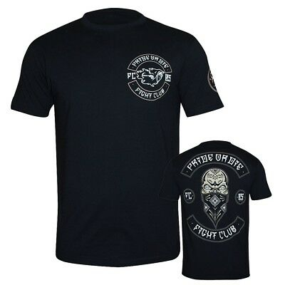Pride Or Die T-Shirt Fight Club Mayans MMA BJJ Muay Thai Training schwarz S-3XL