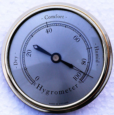 Hygrometer 80mm diameter available with spun brass dial.