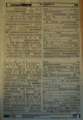 LETRASET Rub On Transfers GROTESQUE 215 : 12pt (#289) used