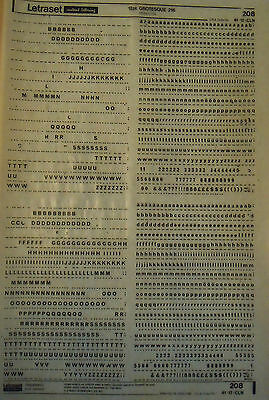 LETRASET Rub On Transfers GROTESQUE 216 : 12pt (#208) used