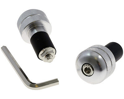 Barend-weight, aluminum / silver, knurled for Ducati Monster 696 2009 until 2014