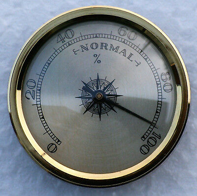 Hygrometer 45mm diameter with spun brass dial.