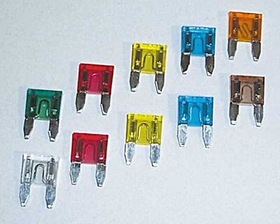 Plug fuse / flat fuse / circuit example. Motorcycle, 3 A, 10-pack