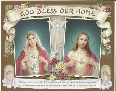 """GOD BLESS OUR HOME Religious Print, 10"""" x 8"""" (200mm x 250mm)"""