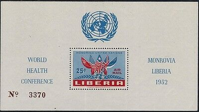 Liberia 1952 United Nations World Health Conference M/s