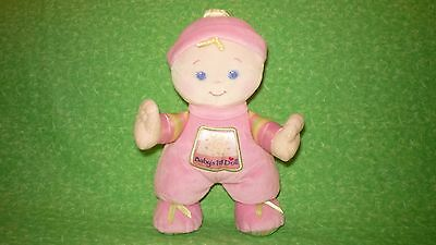 "Fisher Price MY FIRST DOLL Pink with Satin Yellow Curl 11"" tall"