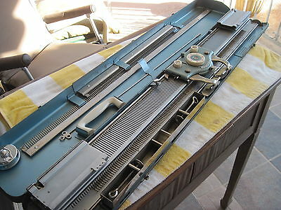 Vintage BROTHER Home Knitting Machine Metal Steel W Case Intact 160 needles
