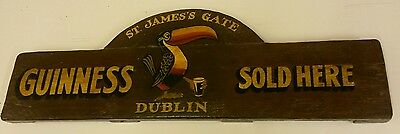guinness stout timber pub sign
