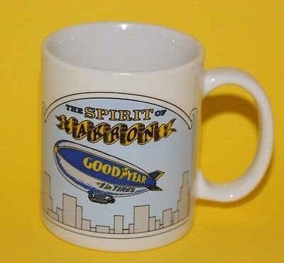 Goodyear Tires Spirit of Akron Blimp Advertising Coffee Mug Porcelain Rosalinde