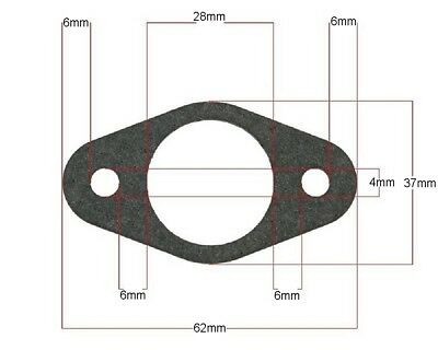 Exhaust Gasket oval - Piaggio-Zip Base 50 DT AC 96-98 SSP2 stroke