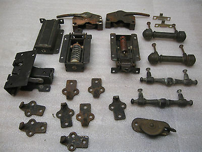 Vintage 21 piece  Lot of Misc. Hardware Window, , Hinges, screen hooks & Latches