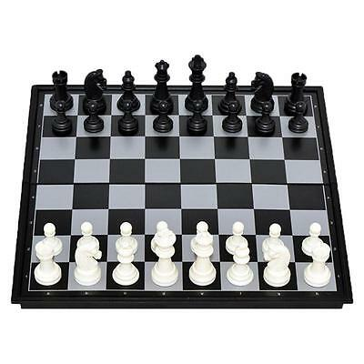 Travel Magnetic Chess Mini-Set, Portable Playing Board, New LJ
