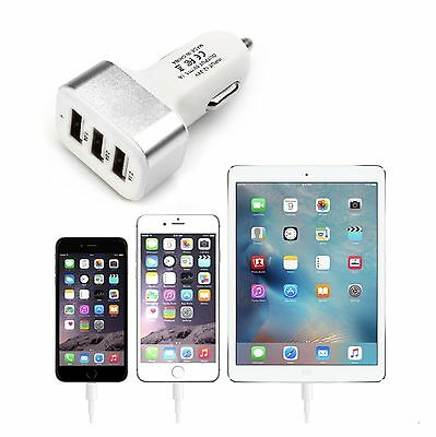 Universal Car Charger Apple iPad iPhone iPod 3-Port USB Adapter + FREE SHIPPING