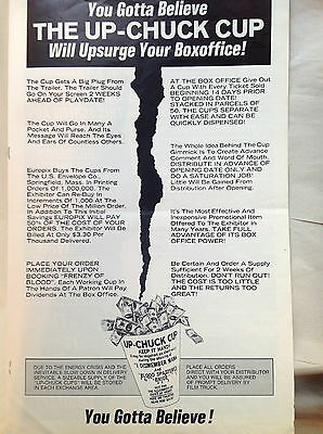 pressbook I DISMEMBER MAMA / BLOOD-SPATTERED BRIDE - the Upchuck Cup!