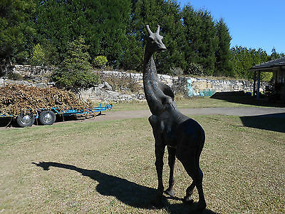 Bronze Large Statue Of A Giraffe