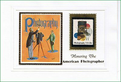 Honoring American Photographer, Art & 15 cent Photography US Postal Stamp