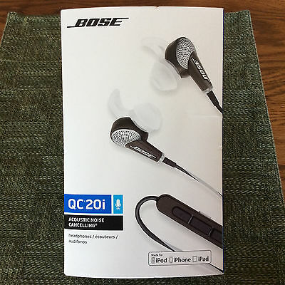 Bose QC20i In-Ear Acoustic Noise Cancelling Headphones Black FREE SHIPPING!!