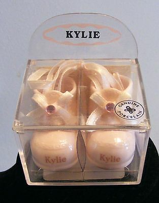 Adorable, Tiny, Baby Booties Figurine / Keepsake For A Little Girl Named KYLIE