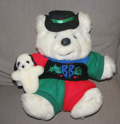 Vintage 1990 Dayton Hudson Christmas Bully Teddy Bear Stuffed Animal Toy Plush