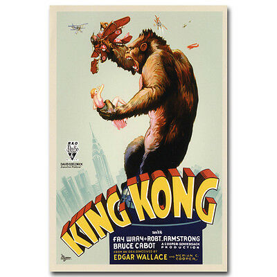 King Kong Classic Movie Silk Poster 12x18 24x36 inches 001