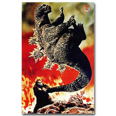 King Kong vs Godzilla Classic Movie Vintage Silk Poster 12x18 16x24 inches 005