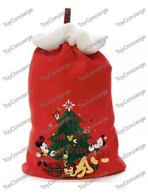 DISNEY Store HOLIDAY 2016 SANTA Gift SACK Embroidered RED Bag for Packages NWT