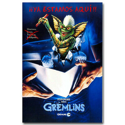 Gremlins 1984 Horror Movie Art Silk Poster 12x18 24x36 inch