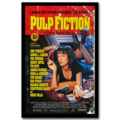 Pulp Fiction 1994 Classic Film Movie Art Silk Poster Print 12x18 32x48inch