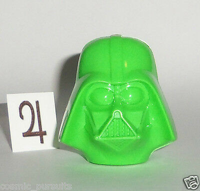 STAR WARS DARTH VADER HEAD CANDY HOLDER x1 GALERIE GREEN CHARACTER MOLD DISNEY