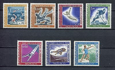 s12367) MONACO MNH** 1968, Olympic games Mexico 7v