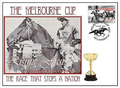 Melbourne Cup Horse Racing Cover, Rising Fast 1954