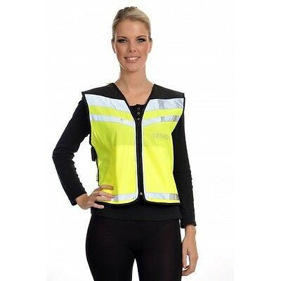 Small Equisafety Air Waistcoat Reflective Hi-Viz with plain back