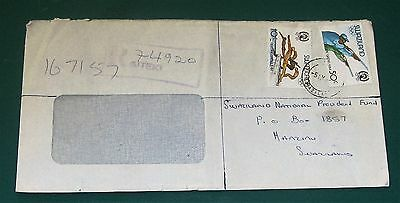 1984 local Registered cover from Siteki to Manzini Swaziland