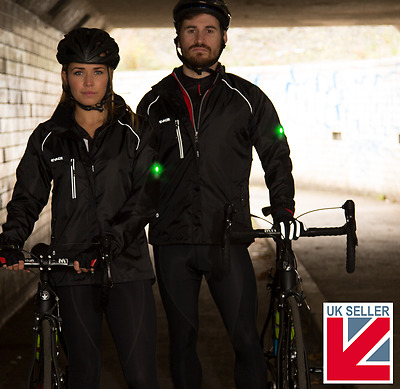 LED Commuter Cycling Jacket with drop down tail, underarm vents, be seen - Evade