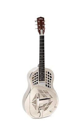 RESONATOR GUITAR JOHNSON JM-999-E chrome Tricone +Pickup A1 Top (VP