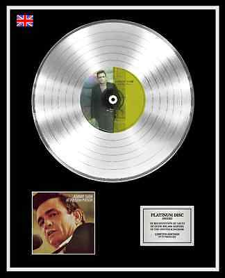 JOHNNY CASH Ltd Edition CD Platinum Disc Record AT FOLSOM PRISON