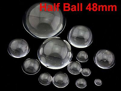 New Transparent Clear Flatback Glass Half Sphere Ball Cabochon 50mm No Hole