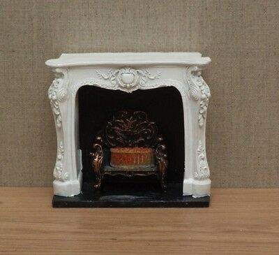 1:12 Dolls House Rococo-style fireplace