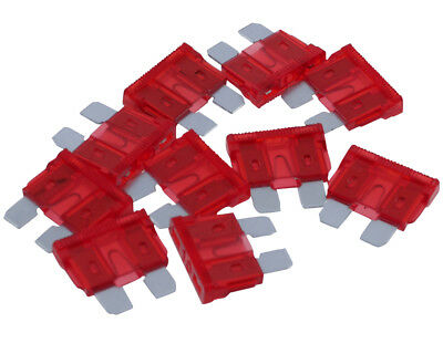 Plug fuse / flat fuse red, 10 A, 10-pack