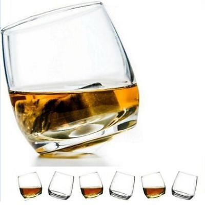TxT SET 6 BICCHIERI WHISKEY BASCULANTI OSCILLANTI in VETRO idea regalo whisky