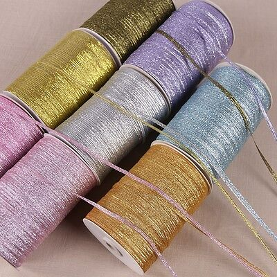 20 Y 3mm glitter ribbon gift packing belt wedding party embellishment ribbon